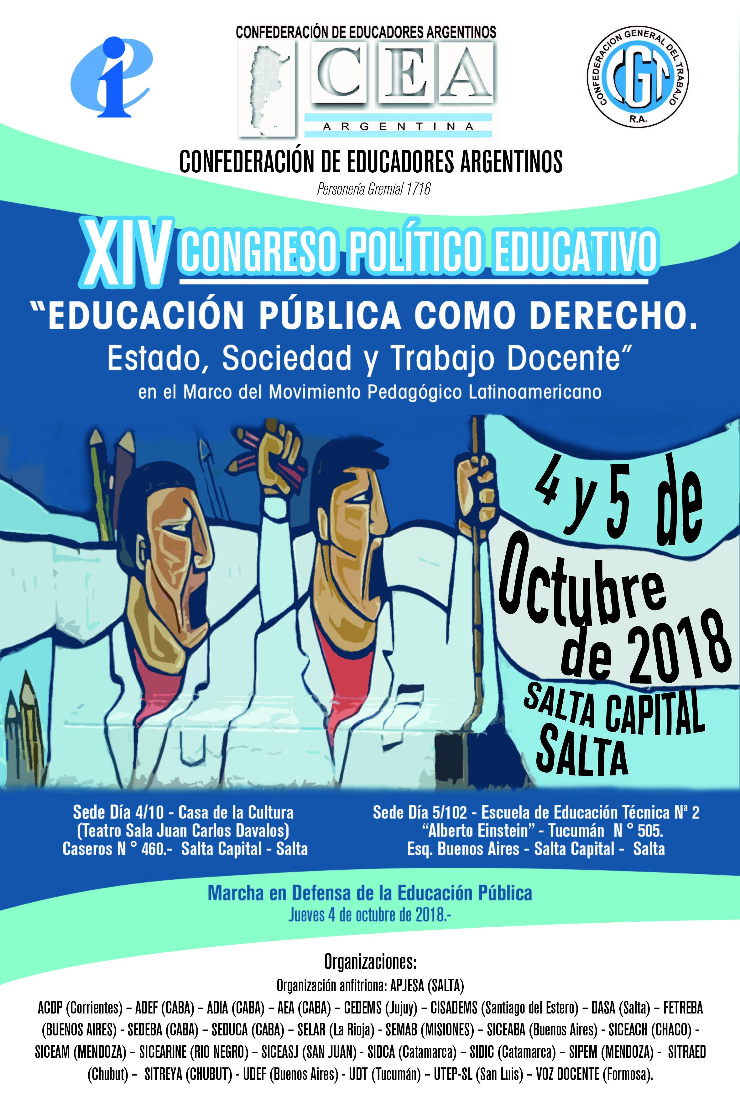 EXPECTATIVAS del INICIO del XIV CONGRESO POLITICO EDUCATIVO de la ...